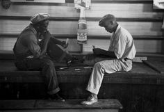 Young Men Play A Card game of Coon Can, in a store near Reserve, Louisiana 1938
