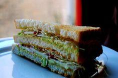 Avocado & sprouts club sammie