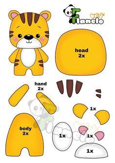 Felt Doll Patterns, Felt Animal Patterns, Felt Crafts Patterns, Felt Crafts Diy, Felt Diy, Stuffed Animal Patterns, Sewing Stuffed Animals, Baby Mobile, Sewing Toys