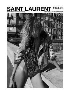 Anja Rubik w kampanii Saint Laurent wiosna-lato fot. Yves Saint Laurent Anja Rubik in the Saint-Laurent spring-summer 2017 campaign, photo: Yves Saint Laurent Anja Rubik, Foto Glamour, Yves Saint Laurent, Mode Chanel, Model One, Dna Model, Vogue, Fashion Advertising, Mode Editorials