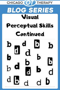 In our previous Visual Perceptual Skills post, we discussed how our eyes are responsible for performing a variety of complex functions to help us interact with the world around us. In this post, we will take a closer look at the four remaining visual perceptual skills: form constancy, sequential memory, figure ground, and visual closure. #PediatricOT #OT #PediatricOccupationalTherapy #OccupationalTherapy Ot Therapy, Vision Therapy, Hand Therapy, Therapy Ideas, Visual Perceptual Activities, Motor Activities, Visual Learning, Early Learning, Figure Ground Perception