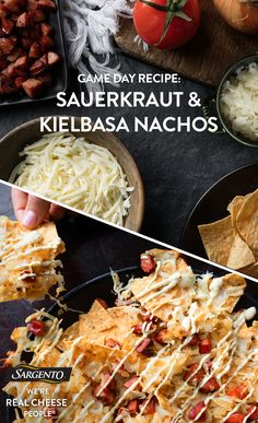 Promoted by Sargento®. Nachos may be a game day staple…but not all nachos are created equal. Turn it up a notch with these to-die-for nachos boasting kielbasa sausage, sauerkraut and cracked pepper. They're seriously touchdown-worthy Check out the full recipe for details. Thank you @cmpollak1 for the recipe!