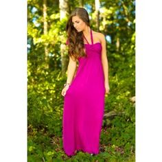 One You Won't Forget Maxi Dress-Berry - $48.00