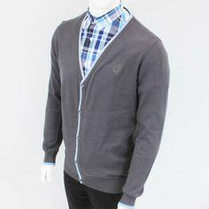 Vintage Cardigan Sweater by Warrior Clothing- BRITISH STEEL