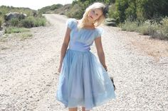 VTG 1950s 50s Light Blue Prom Party Dress w/ by WhenDecadesCollide, $108.00