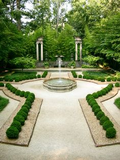 "atlantahistorycenter: "" Boxwood Garden, Swan House """