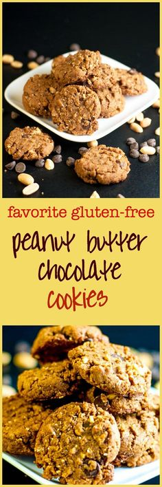 My Favourite Gluten-Free-Peanut-Butter-Chocolate-Cookies. This recipe makes a soft but sturdy cookies with crunchy peanuts and sweet chocolate chips.