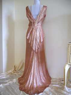 Late 1920s to early 1930s evening gown