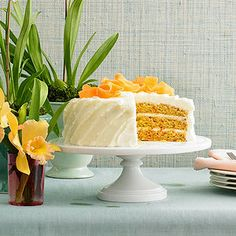Three Layer Mango-Carrot Cake From Better Homes and Gardens, ideas and improvement projects for your home and garden plus recipes and entertaining ideas.