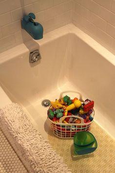 kid's bath toy storage