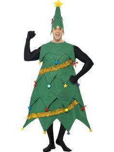 Adult Christmas tree costume.  Disfraz de árbol de Navidad adulto.