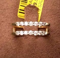 Yellow Gold Jacket Round Diamond Ring Guard Wrap Solitaire Enhancer (0.50ct. tw)-RG221675381823