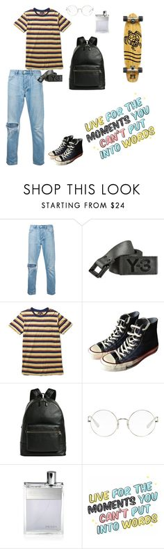 """skater"" by ebbisgr ❤ liked on Polyvore featuring ExInfinitas, Y-3, Lenny, Converse, Coach, Ray-Ban, Prada, Body Glove, men's fashion and menswear"