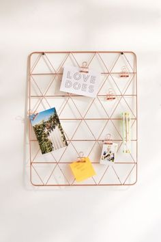 Geo Wire Wall Grid | Urban Outfitters