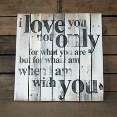 'I Love You' Wooden Print On Salvaged Pallets