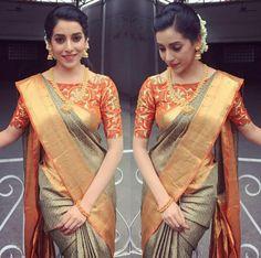 Kerala Saree Blouse Designs, Fancy Blouse Designs, Bridal Blouse Designs, Stylish Blouse Design, Saree Trends, Designer Blouse Patterns, Saree Models, Stylish Sarees, Saree Look