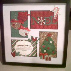 Christmas framed art like the ornament with hearts...noel with snowflake...heart tree...joy with heart as separate cards