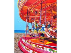 Seaside Carousel - Original Art from West Country Galleries