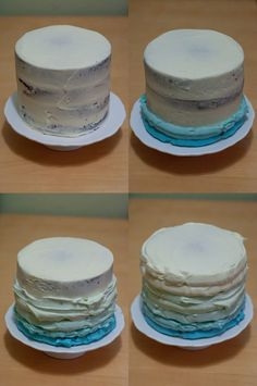 how to frost that ombre cake
