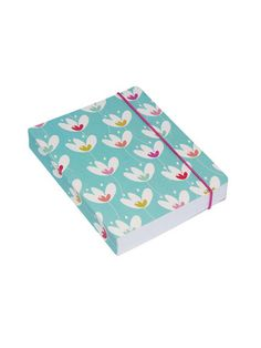 Susan Driscoll for Go Stationery  Tulip Garden -  Tulip Teal A6 chunky notebook