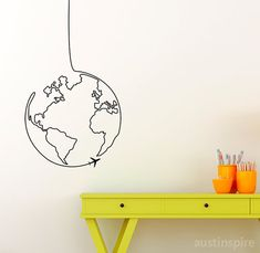 World on a String Wall Decal