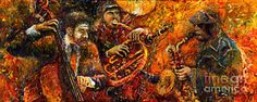 Jazz Painting - Jazz Gold Jazz by Yuriy  Shevchuk