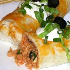 Picante Chicken Rice Burritos