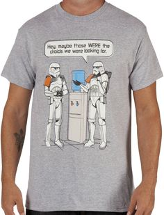 Star Wars Stormtroopers Watercooler Shirt by Fifth Sun in collections: 80s Movies: Star Wars: Storm Trooper: Funny, & Dept: Adult Mens, Color: Athletic Heather