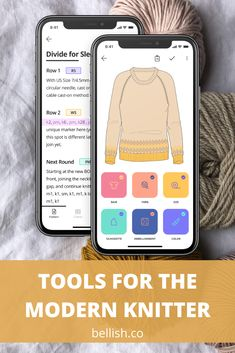 Create your custom sweater with the free Bellish knitting app. Start knitting in minutes! Knitted Mittens Pattern, Sweater Knitting Patterns, Loom Knitting, Knitting Stitches, Knitting Designs, Knit Patterns, Free Knitting, Knitting Projects, Baby Knitting