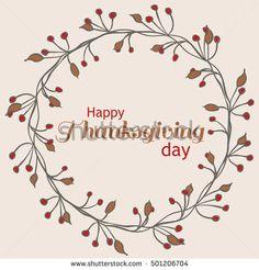 Happy Thanksgiving Day Autumn wreath