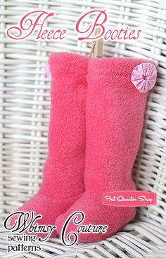 Fleece Booties Downloadable PDF Pattern Whimsy Couture