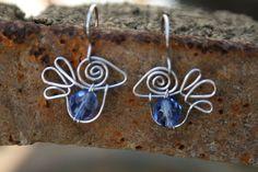 Cute lovebird earrings bird earrings by HorakovaDesigns so sweet