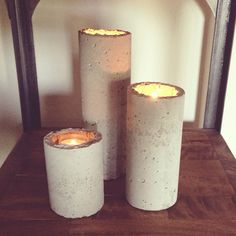 Industrial Concrete Candle Holders DIY tutorial