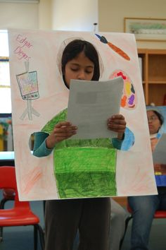 Biography or character project. So cute, but so simple! Artist reports!  Fun