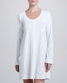 Pima Cotton Sleep Shirt, Heather Gray