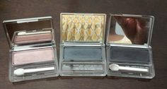 Clinique Eyeshadow Singles. Each has been used once. $12 Each (l to r) Lucky Penny / Charcoal / Black Velvet