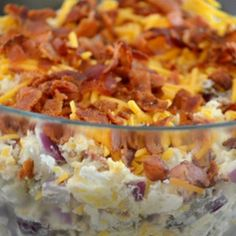 Fully Loaded Baked Potato Salad This is wonderful made it for a party and it was a big hit - Healthy Eating Images Stock