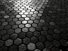 Texture Hexagon Nero Texture, Mosaics, Home, Trendy Tree, Surface Finish, Mosaic, Pattern