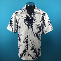 1950's retro cotton Kimono Hawaiian shirt, yukata fabric, Men, US size M by PriscillaTokyo on Etsy