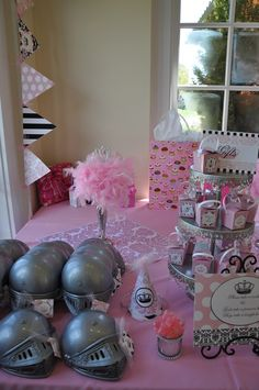 "Photo 80 of 141: Vintage crown w/ pink damask, feathers & black & white / Birthday ""Talia's vintage princess crown 1st bday"""