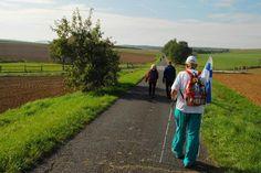 Kävelytapahtumien reitit kulkevat kauniissa maisemissa. Kuva Saksan Fuldasta viime vuodelta.