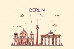Berlin skyline (Germany) by grop on Creative Market