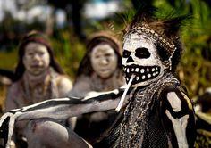 Une femme de Papouasie-Nouvelle-Guinée lors d'une célébration à Mount Hagen