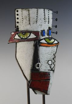 Kimmy Cantrel Funky Painted Furniture, Painted Wood, Kimmy Cantrell, Abstract Faces, Assemblage Art, School Projects, Wood Wall Art, Black Art, Ceramic Art