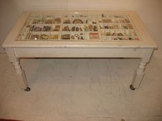 shadow box coffee table, use acrylic top on kitchen peninsula with space for photos or small display items