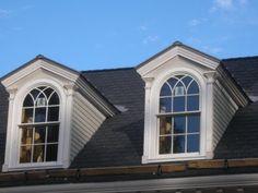 Dormer Window Vertical Window Protruding Through Sloping
