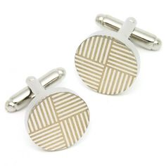 The Round Metal Cufflinks For Birthday Gifts
