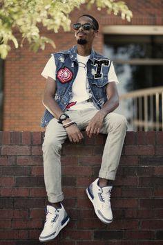 Newly Renovated Varsity Denim Vest Lookbook by Tony Logan, via Behance