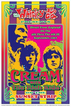 Cream at Whisky A Go Go Concert Poster 1967