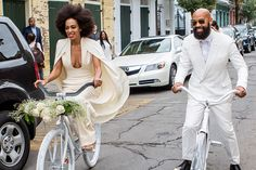 Solange Knowles Style - 2014: With Alan Ferguson on their wedding day in New Orleans